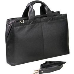 Leather Zip Around Tote Bag