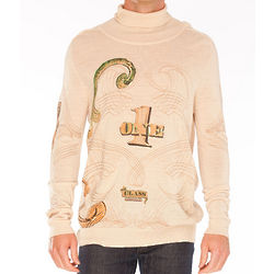 Roberto Cavalli Dollar Bill Beige Sweater