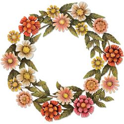 Summer Flowers Metal Wreath