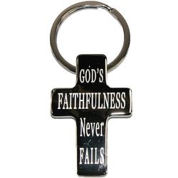 Christian Art Cross Metal Keychain