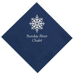 Personalized Snowflake Napkins