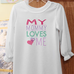 Somebody Loves Me Personalized Youth Nightgown
