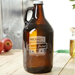 Home Brew Brown Personalized Beer Growler