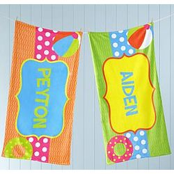 Personalized Pool Fun Micro-Fiber Beach Towel