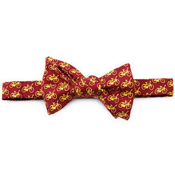 Bicycles Silk Bow Tie