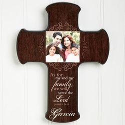 Personalized Family Blessings Photo Wall Cross