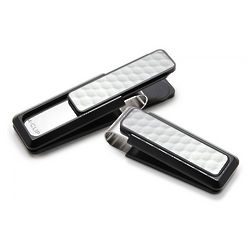 Black Aluminum Golf Ball Skin Money Clip