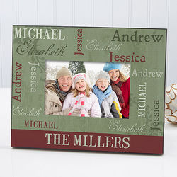Our Loving Family Christmas Personalized Photo Frame