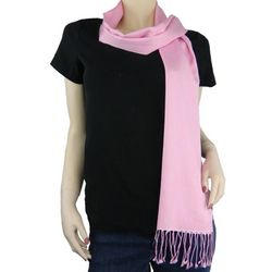 Pashmina and Silk Light Pink Scarf