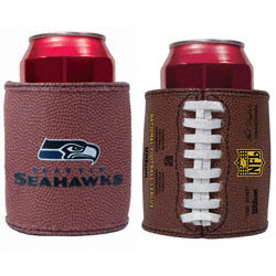 Seattle Seahawks Authentic Football Grip Can Cooler Set