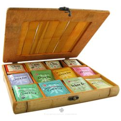 Bamboo Tea Chest with 60 Teabags