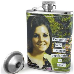 Most Popular Girl in Rehab Hip Flask
