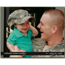 Personalized Picture Perfect Military Photo Wall Canvas