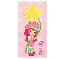 Personalized Strawberry Shortcake Beach Towel