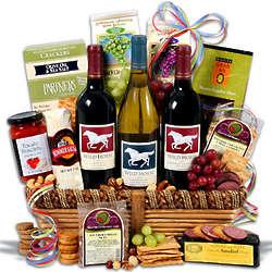 Wild Horse Trio Wine Gift Basket