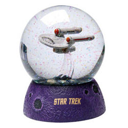 Light-Up Star Trek Enterprise Snow Globe
