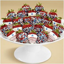 24 Hand-Dipped Star Spangled Strawberries