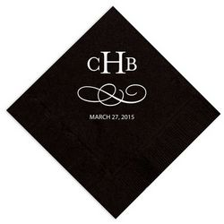 Personalized Simple Swirl Napkins