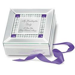 Granddaughter I Love You Name-Engraved Birthstone Music Box