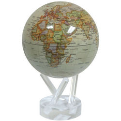 High-Gloss Solar-Powered Perpetual Motion Globe
