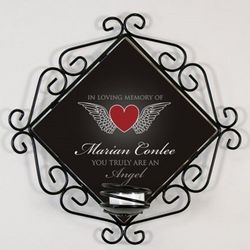 Personalized Truly an Angel Memorial Candle Holder