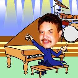 Your Photo in a Concert Pianist Caricature