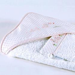 Bunny Tea Party Hooded Towel and Mitt Set