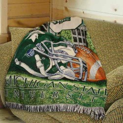 Michigan State Spartans 48 X60 Woven Blanket Throw