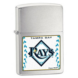 Tampa Bay Rays Satin Chrome Zippo Lighter
