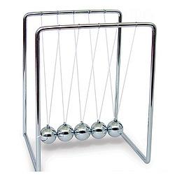 "Newton's Cradle 5"" Silver"