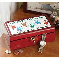 Personalized Hands Down Wooden Box