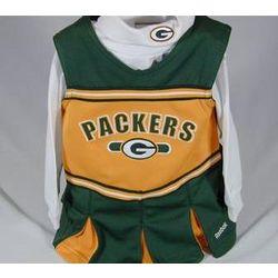 Packers Toddler Cheerleader Jumper Set