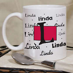 Personalized Name and Initial Ceramic Mug