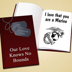 Personalized Military Love Book