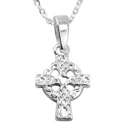 Trinity Knot Cross Silver Plated Necklace
