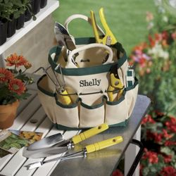 Personalized Tote with Garden Tools