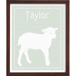 Vintage Lamb Personalized Framed Art