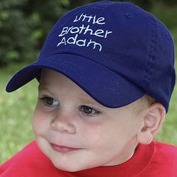 Brother Personalized Blue Baseball Hat