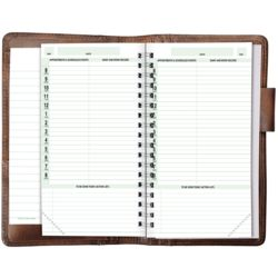 Rich and Rugged Distressed Leather Planner