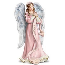 Breast Cancer Awareness Messenger Of Hope Angel Figurine