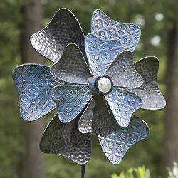 Solar Flower Metal Wind Spinner