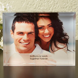 Small Romantic Custom Photo Block