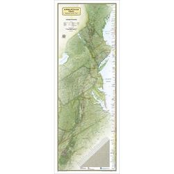 Laminated Appalachian Trail Wall Map