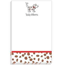 Personalized Puppy Dog Notepad