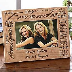 Forever Friends Engraved Wooden Picture Frame