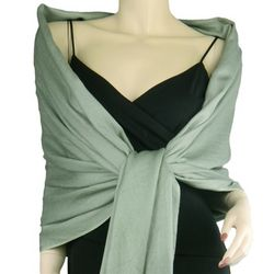 Pashmina and Silk Sage Green Wrap