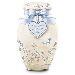 A Year of Wishes For a Wonderful Mom Porcelain Musical Ginger Jar