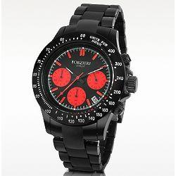 Men's Black Chrono Bracelet Watch