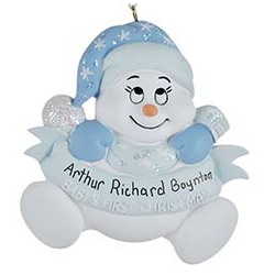 Snow Baby 1st Christmas Personalized Christmas Ornament