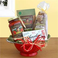 Organic Italian Feast Colander Gift